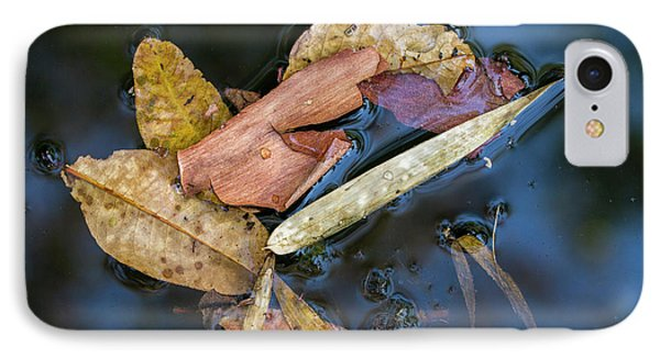 IPhone 7 Case featuring the photograph Leaf Litter In Pond, Navegaon, 2011 by Hitendra SINKAR