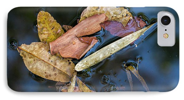 IPhone Case featuring the photograph Leaf Litter In Pond, Navegaon, 2011 by Hitendra SINKAR