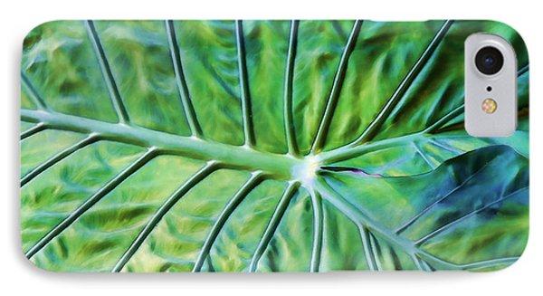 Leaf Pattern IPhone Case by Teresa Zieba