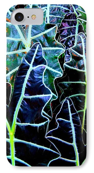 Leaf Patterns IPhone Case by Shirley Sirois
