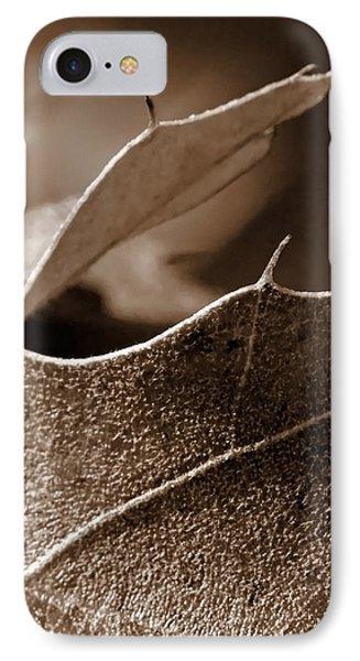 Leaf Study In Sepia II IPhone Case by Lauren Radke