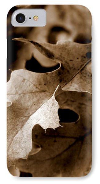 Leaf Study In Sepia IIi IPhone Case by Lauren Radke