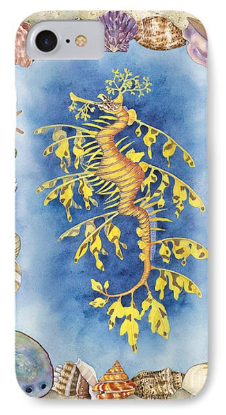 Leafy Sea Dragon IPhone Case by Lucy Arnold