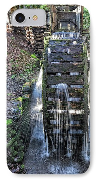 IPhone Case featuring the photograph Leaky Mill Wheel by Alan Raasch