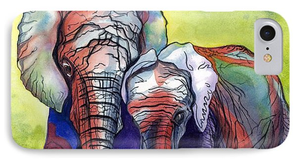 IPhone Case featuring the painting Lean On Me by Barbara Jewell