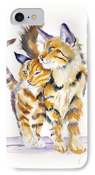 Cat iPhone 7 Case - Lean On Me by Debra Hall