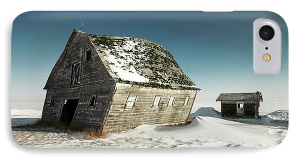 Leaning Barn IPhone Case by Todd Klassy