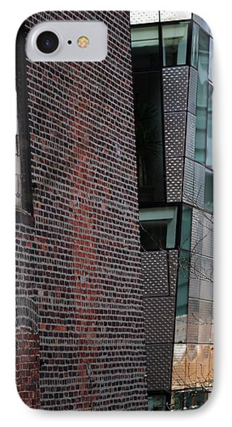 Leaning In At The High Line IPhone Case by Rona Black