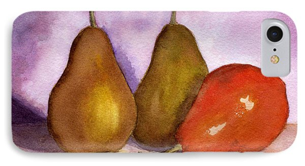 Leaning Pear IPhone Case by Lynne Reichhart