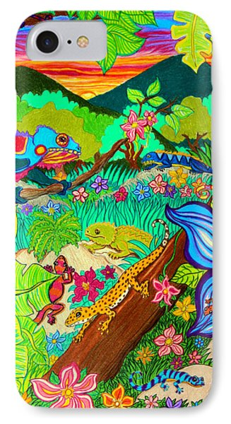 Leapin Lizards IPhone Case