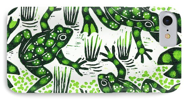 Leaping Frogs IPhone 7 Case by Nat Morley