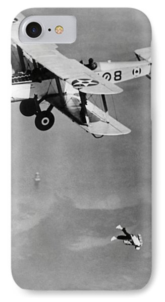 Leaping From Army Airplane IPhone Case by Underwood Archives