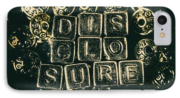 Aliens iPhone 7 Case - Learning Blocks Of Disclosure by Jorgo Photography - Wall Art Gallery