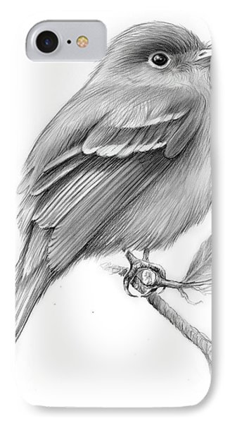Flycatcher iPhone 7 Case - Least Flycatcher by Greg Joens