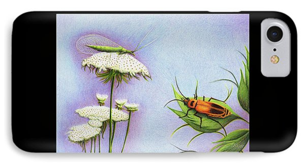 Leather And Lace... For The Gardeners IPhone Case by Danielle R T Haney
