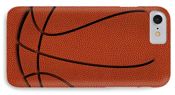 Leather Basketball Art IPhone Case by Joe Hamilton