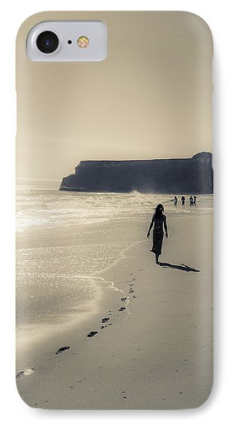 Leave Nothing But Footprints IPhone Case by Alex Lapidus