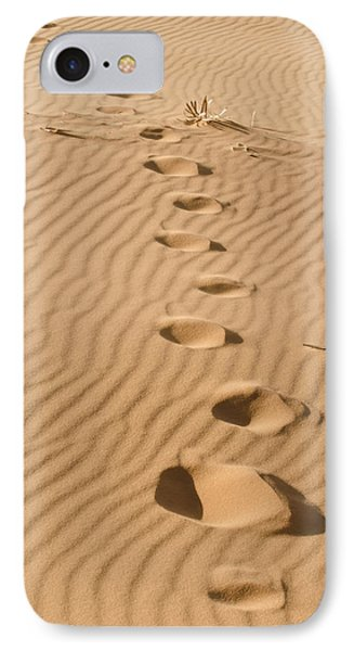 Leave Only Footprints IPhone Case by Heather Applegate