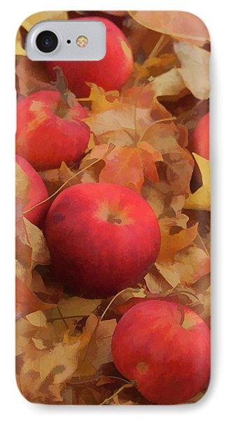 IPhone Case featuring the photograph Leaves And Apples by Michael Flood