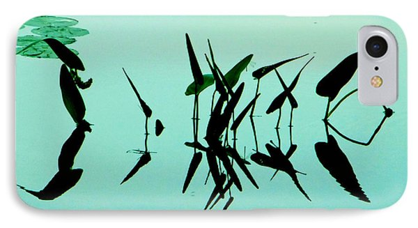Leaves And Dragonflies 2 IPhone Case by David Gilbert