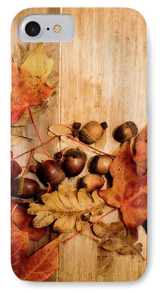 IPhone Case featuring the photograph Leaves And Nuts 2 by Rebecca Cozart