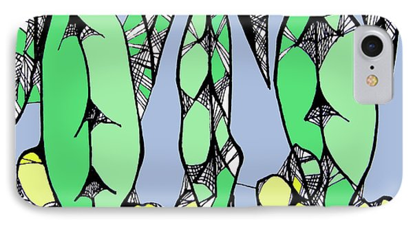 Leaves And Wattle IPhone Case