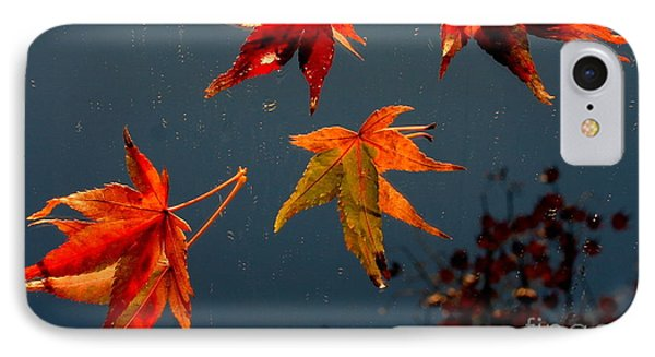 Leaves Falling Down IPhone Case by Marie Neder