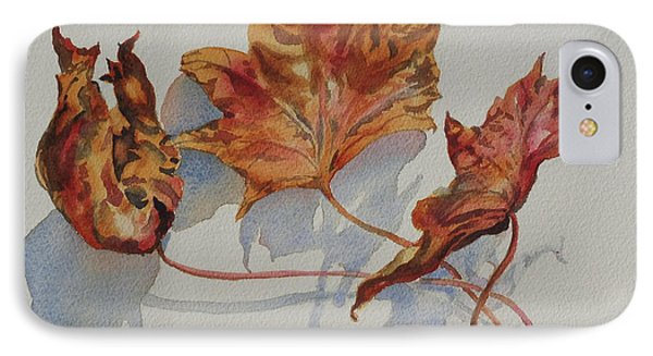 IPhone Case featuring the painting Leaves Of Fall by Mary Haley-Rocks
