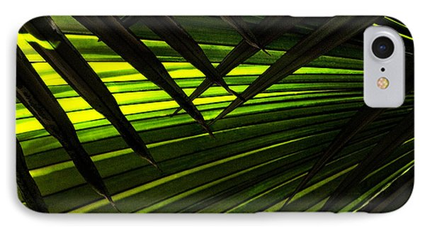 Leaves Of Palm Color Phone Case by Marilyn Hunt