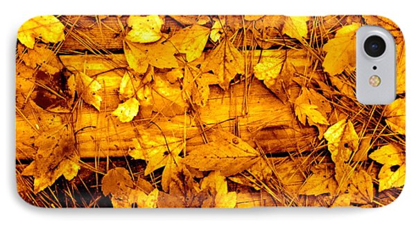 Leaves Of Sepia IPhone Case by Cathy Dee Janes