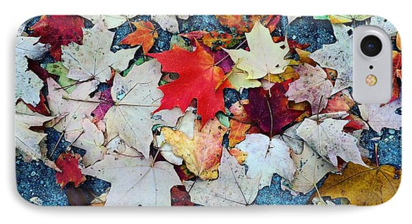 Leaves On The Sidewalk Phone Case by Robert Nguyen