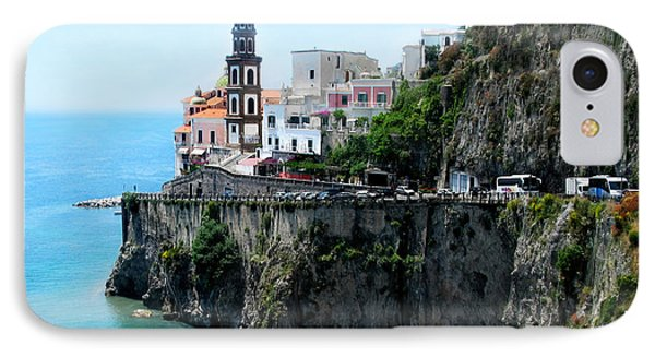 Leaving Atrani  Italy IPhone Case by Jennie Breeze
