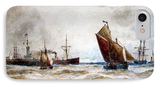 Leaving Port Calais IPhone Case by MotionAge Designs