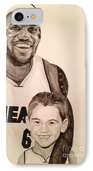 Lebron And Carter Phone Case by Tamir Barkan