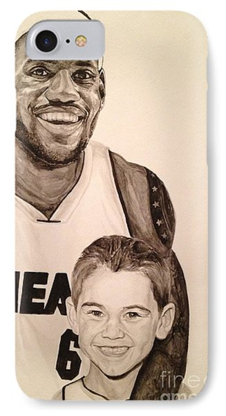 IPhone Case featuring the painting Lebron And Carter by Tamir Barkan