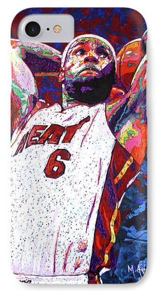 Lebron James iPhone 7 Case - Lebron Dunk by Maria Arango