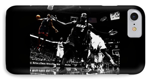 Lebron James 6a IPhone Case by Brian Reaves