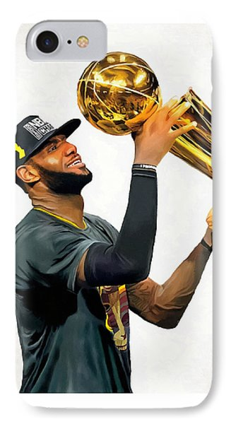 Lebron James Cleveland Cavaliers Champions Portrait Painting IPhone Case