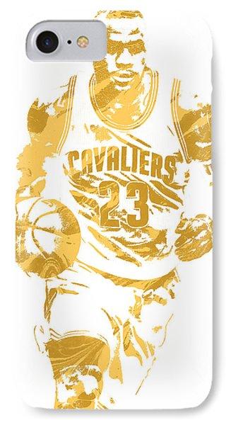 Lebron James Cleveland Cavaliers Pixel Art 7 IPhone 7 Case by Joe Hamilton