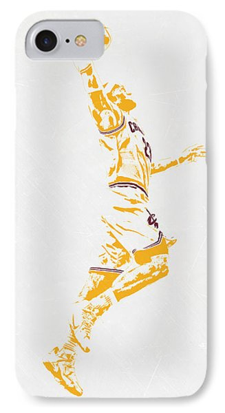 Lebron James Cleveland Cavaliers Pixel Art IPhone Case by Joe Hamilton