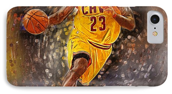 Lebron James IPhone Case by Semih Yurdabak