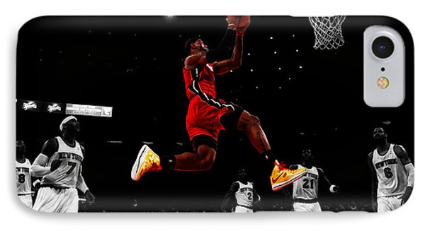 Lebron James Showtime  IPhone Case by Brian Reaves