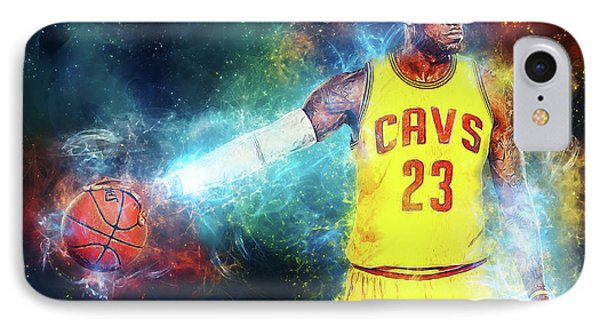 Lebron James iPhone 7 Case - Lebron James by Taylan Apukovska