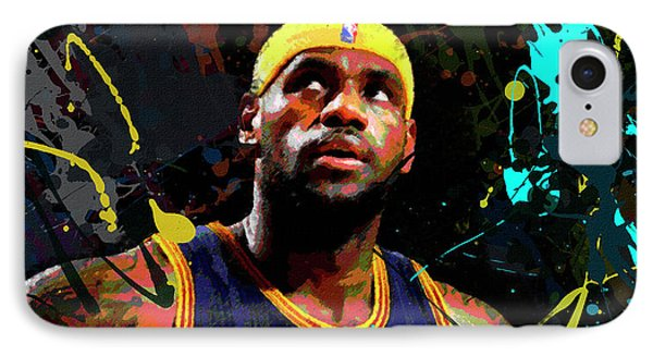 IPhone Case featuring the painting Lebron by Richard Day