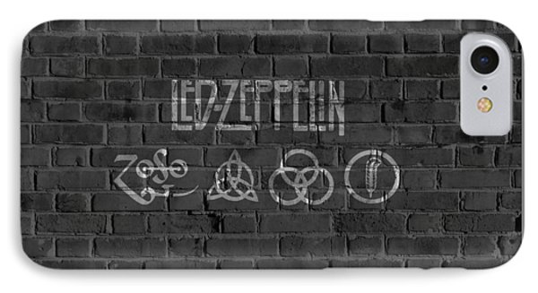 Led Zeppelin Brick Wall IPhone Case by Dan Sproul