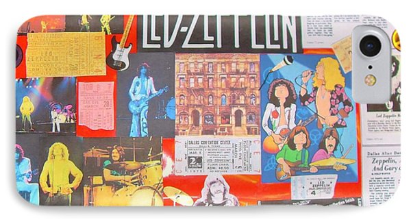 Led Zeppelin Color Collage IPhone Case by Donna Wilson