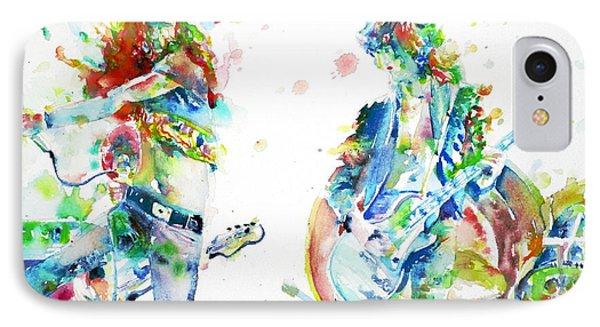 Led Zeppelin Live Concert - Watercolor Portrait.1 IPhone Case