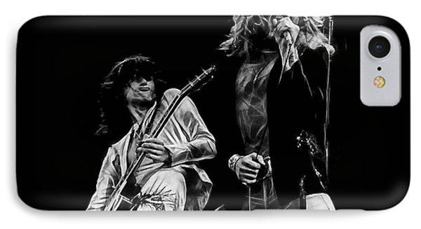 Led Zeppelin Robert Plant Jimmy Page Collection IPhone Case by Marvin Blaine