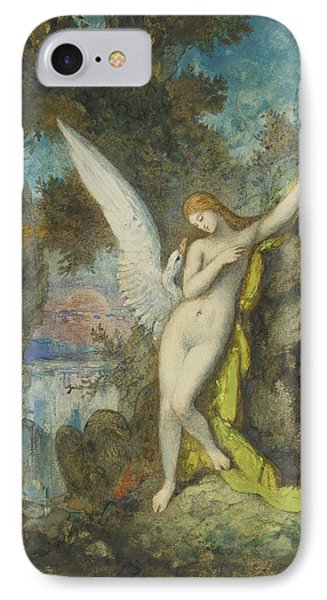 Leda And The Swan IPhone Case by Gustave Moreau