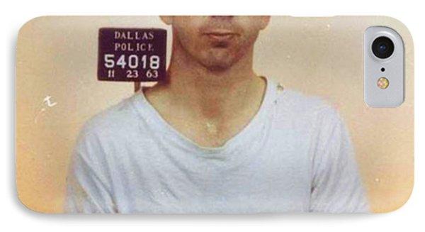 Lee Harvey Oswald Mug Shot Nov 22 1963 Vertical Color  IPhone Case